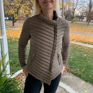 Michael Kors Down Packable Puffer Ribbed Jacket M